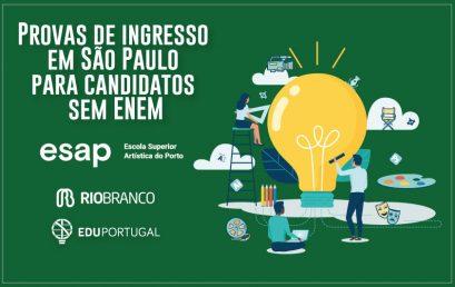 Provas de Ingresso no Brasil para ESAP-PORTO
